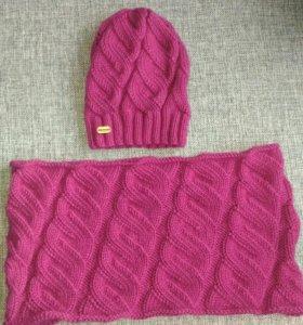 Теплый комплект (шапочка+шарфик)