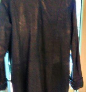 Куртка-плащ, кожа натуральная