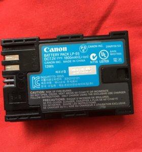 Срочно Запасная батарея Canon LP-E6 оригинал