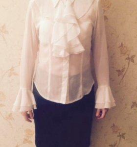 Блузка шифоновая белая