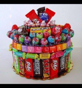 Тортики из конфет