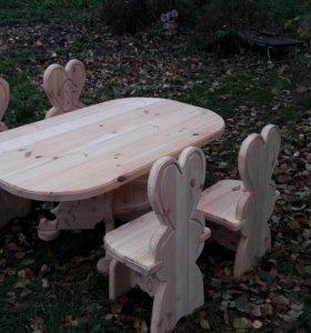 Стол, 4 стула