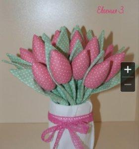 Тюльпаны в стиле тильда.