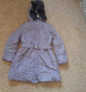 Новая женская тёплая куртка (пуховик на синтепоне)
