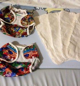 Многоразовые подгузники multi diapers 3-6 кг