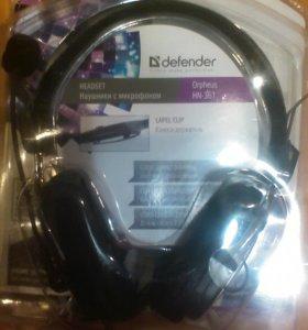 Наушники Defender с микрофоном