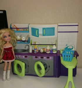Наборы для Барби. Прачечная и кухня.