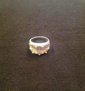 Дизайнерское серебряное кольцо 925пр