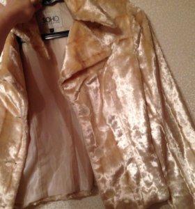 Меховой жакет пиджак куртка
