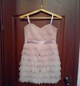 Платье нежно розового цвета. Размер 42