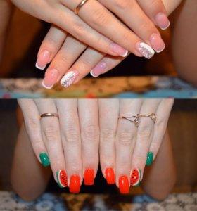 Наращивание, покрытие ногтей!