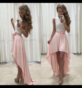 Новое платье,цвет персиковый