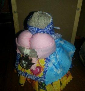 Куклы-зерновушки, обереги, бусы-травные...с мятой