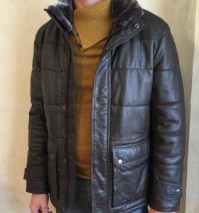Куртка кожаная мужская утепленная