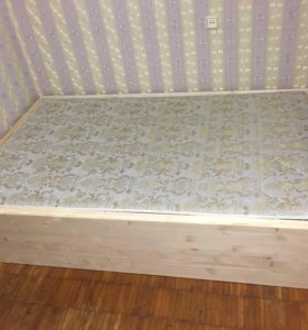 Каркас полуторной кровати 190/120/40 см