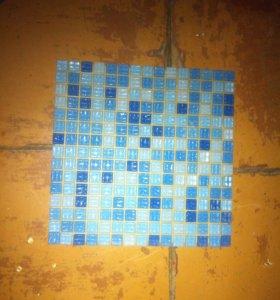 Стеклянная  плитка-мозаика,цвет Голубой микс,20шт
