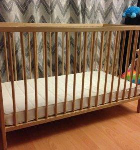 Матрас к детской кроватке