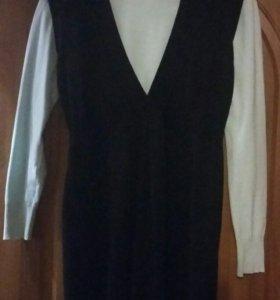 Одежда для будущей мамы: сарафан с водолазкой