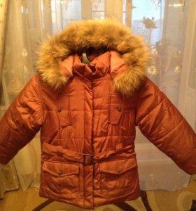 Куртка зимняя р. 134 Новая
