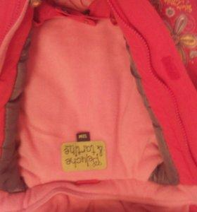 """Теплая куртка  """"Peluche tartine"""" 12м"""