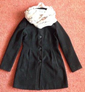 Пальто чёрное бершка
