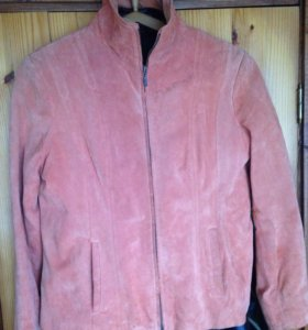 Куртка замша персиковая