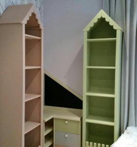 Шкаф для игрушек пенал домик шкафчик из массива