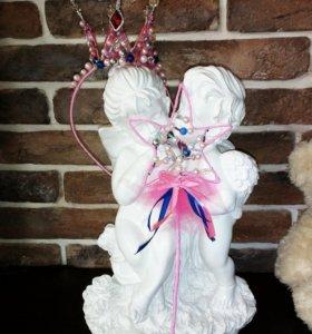 Детская корона с волшебной палочкой