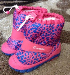 Зимние сапоги для девочки Kapika