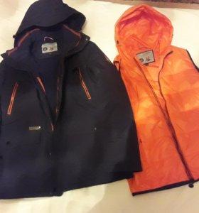 Зимняя куртка с жилетом