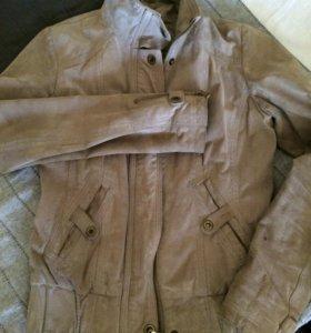 Куртка замша натуральная S