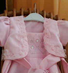 Платье и болеро к платью для девочки