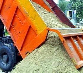 Доставка отсев песок вывоз мусора