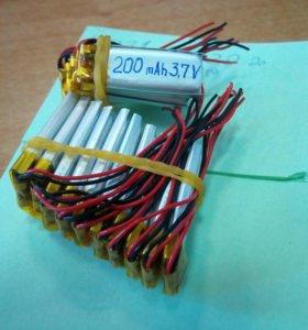 Аккумуляторая батарея 200mAh 3,7 вольта