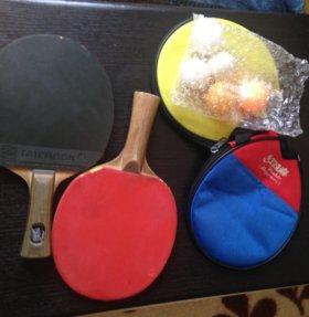 Теннисные ракетки с шариками