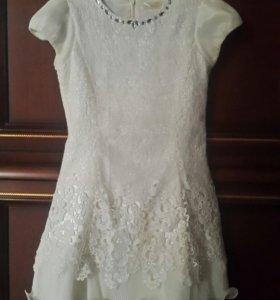 Белое платье 6 7 лет