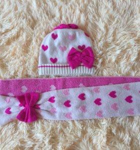 Шапка и шарф на 2-3 года
