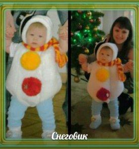 """Новогодний (карнавальный) костюм """"Снеговик"""""""