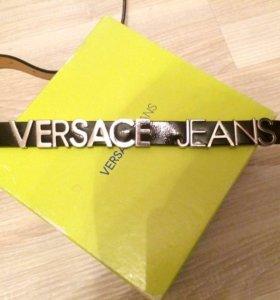 Versace кожаный ремень , оригинал