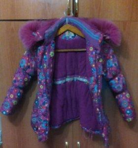 Куртка зимняя на девочку, 6-9 лет