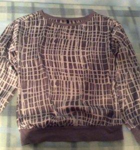 Шелковая блузка benetton