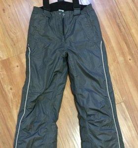 Очень тёплые лыжные брюки на подтяжках
