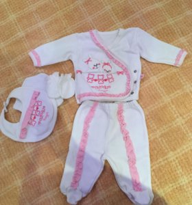 Костюм на новорожденную девочку