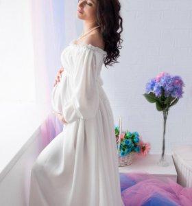 Платье для беременных фотосессий