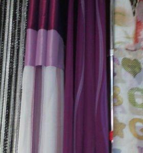 Комплект штор с тюлью на люверсах