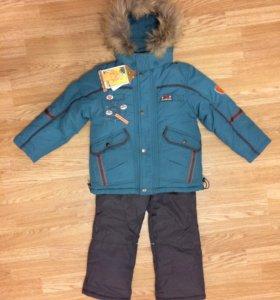 Новый костюм зимний Kiko 3в1 р.110-116