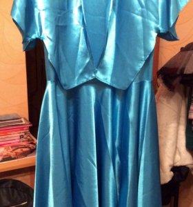 Платье с накидкой эксклюзивное