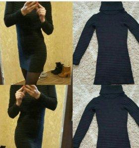 Короткое тёплое платье
