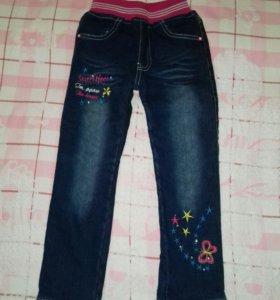 теплые джинсы детские