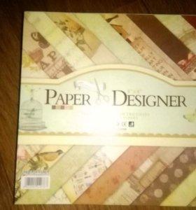 Наборы скрап бумаги 40 листов размер 20×20 см